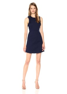 A|X Armani Exchange Women's Stretch Cotton Dobby Dress