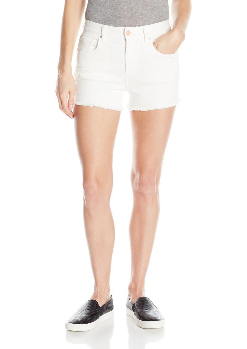 A|X Armani Exchange Women's Stretch Twill 5 Pocket Denim Shorts with Rose Gold Detail