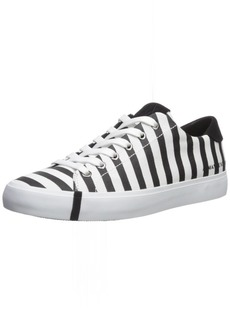A|X Armani Exchange Women's Striped Low Cut Sneaker   Medium US
