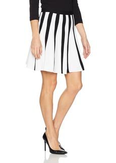 A|X Armani Exchange Women's Striped Pleated Short Skirt  L