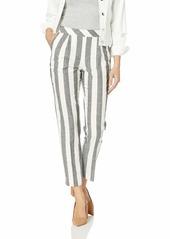 A X Armani Exchange Women's Striped Slim Leg Trouser Black/Martin