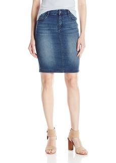 A|X Armani Exchange Women's Super Stretch Twill Denim Pencil Skirt