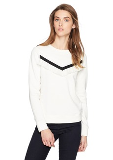 A|X Armani Exchange Women's Tassel Frill Detailed Pullover Sweatshirt  M