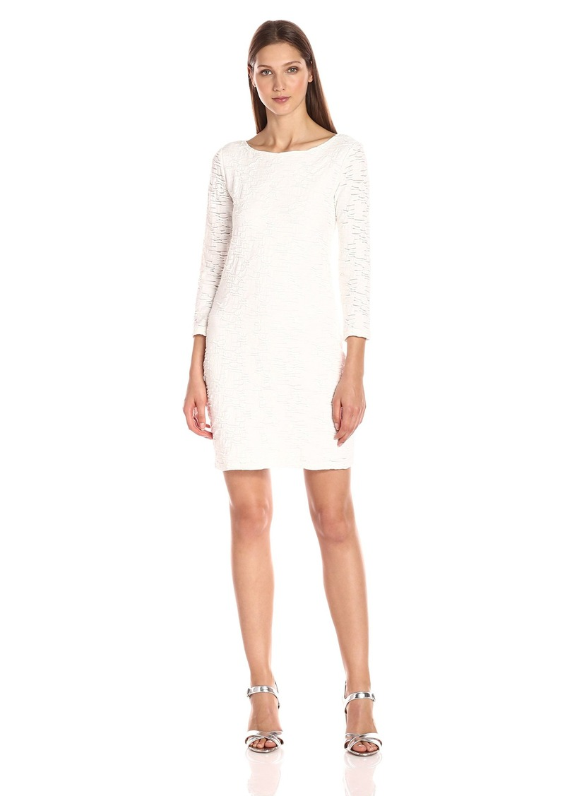 A|X Armani Exchange Women's Textured Long Sleeve Dress