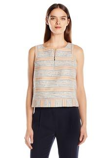 A X Armani Exchange Women's Textured Sleeveless Top