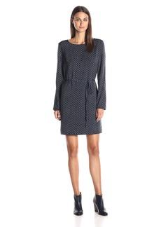A|X Armani Exchange Women's Tie Shift Long Sleeve Dress