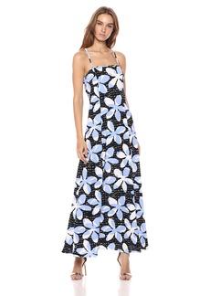 A|X Armani Exchange Women's Tropical Tie Back Dress Pantelleria Flower White o