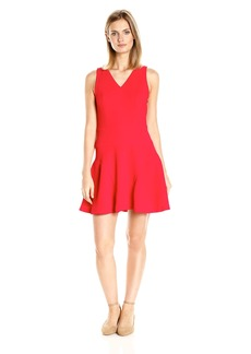 A|X Armani Exchange Women's V-Neck 'Sleeveless Fit and Flare Dress