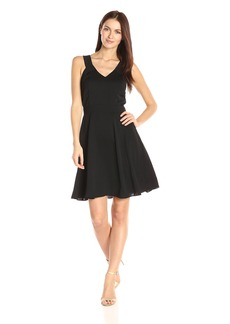 A|X Armani Exchange Women's V Neck Tank Fit and Flare Dress