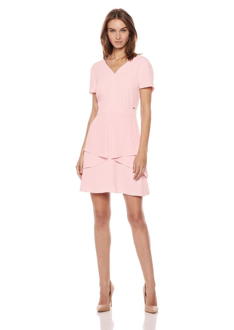 A|X Armani Exchange Women's V Neck Work Dress
