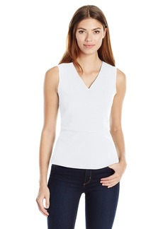A|X Armani Exchange Women's Vneck Sleeveless Peplum Tank Top