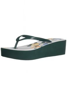 A|X Armani Exchange Women's Wedge Flip Flops Sandal   Medium US