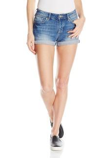 A|X Armani Exchange Women's Wide Leg Stretch Slub 5 Pocket Denim Shorts