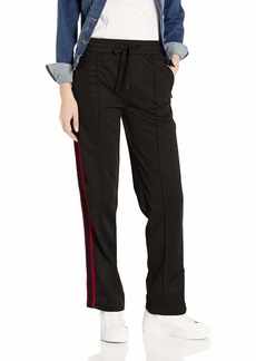 A|X Armani Exchange Women's Wide Leg with Stripe Drawstring Trouser  M