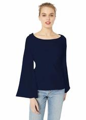 A|X Armani Exchange Women's Wrap Bell-Sleeved Blouse  L