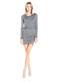 A|X Armani Exchange Women's Wrap Long Sleeve Dress