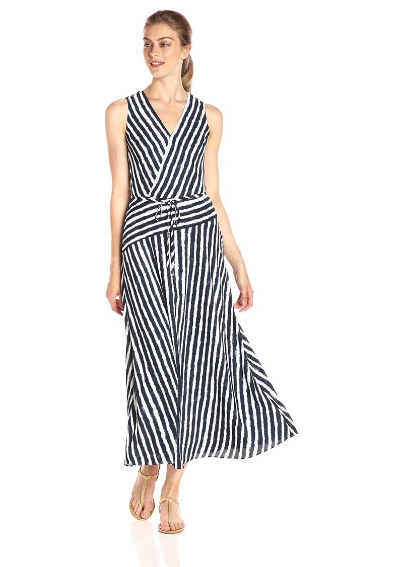 A|X Armani Exchange Women's Wrap Printed Maxi Woven Dress