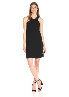 A|X Armani Exchange Women's X Neck Line Above The Knee Dress