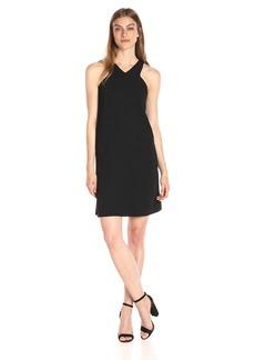 A|X Armani Exchange Women's X Neck Line Above The Knee Dress