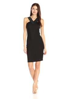 A|X Armani Exchange Women's X Neck Line Little Bodycon Dress
