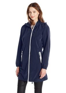 A X Armani Exchange Women's Zip Up Hooded Water Resistent Rain Coat