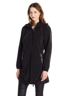 A|X Armani Exchange Women's Zip up Hooded Water Resistent Rain Coat
