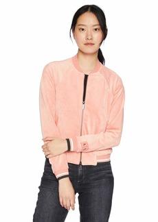 A|X Armani Exchange Women's Zip Up Velvet Jacket CAIPIROSKA S