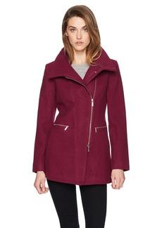 A X Armani Exchange Women's Zip Up Wool Blend Coat  S