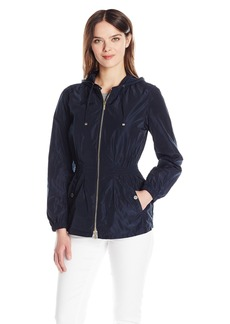 A|X Armani Exchange Women's Zup up Pull in Waist Hooded Jacket