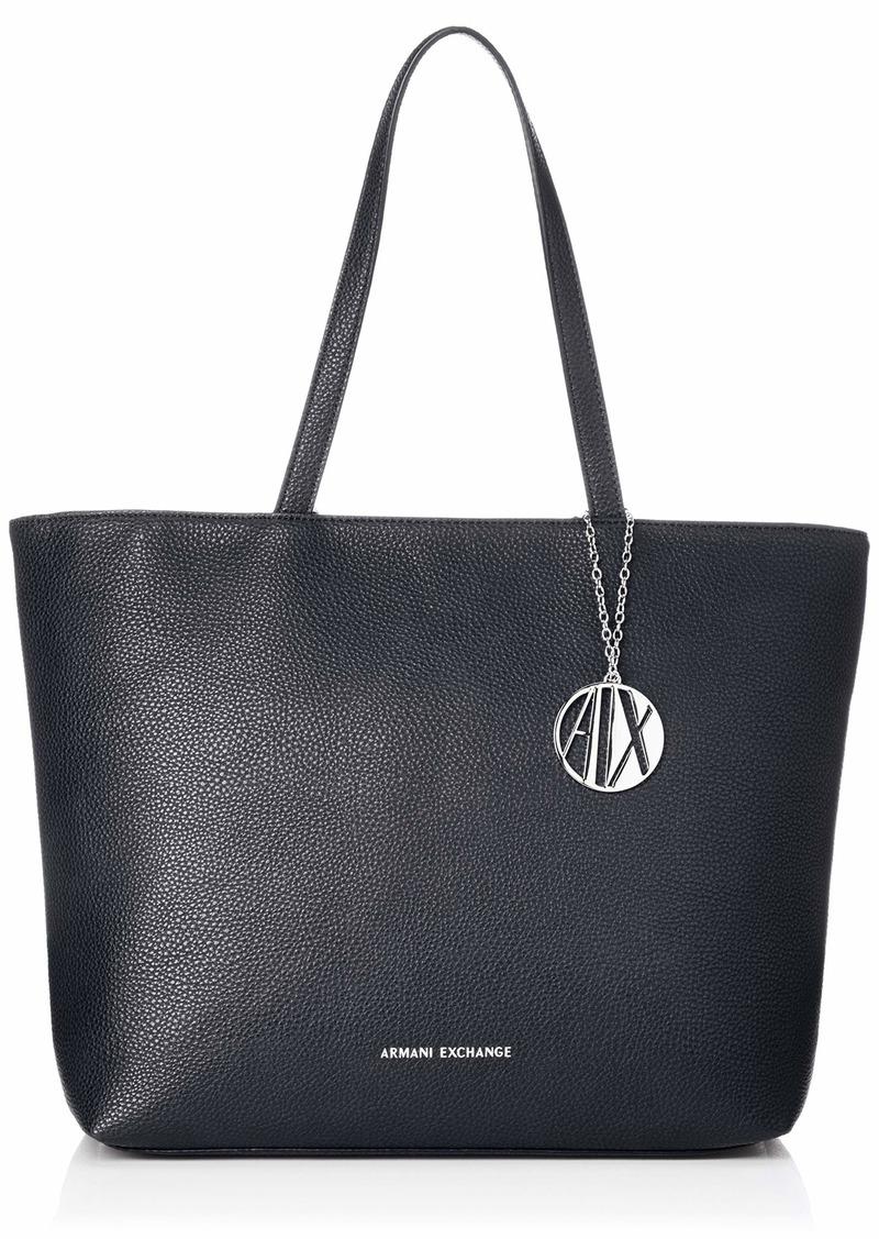 A|X Armani Exchange Zip Top Shoulder Bag Navy 25
