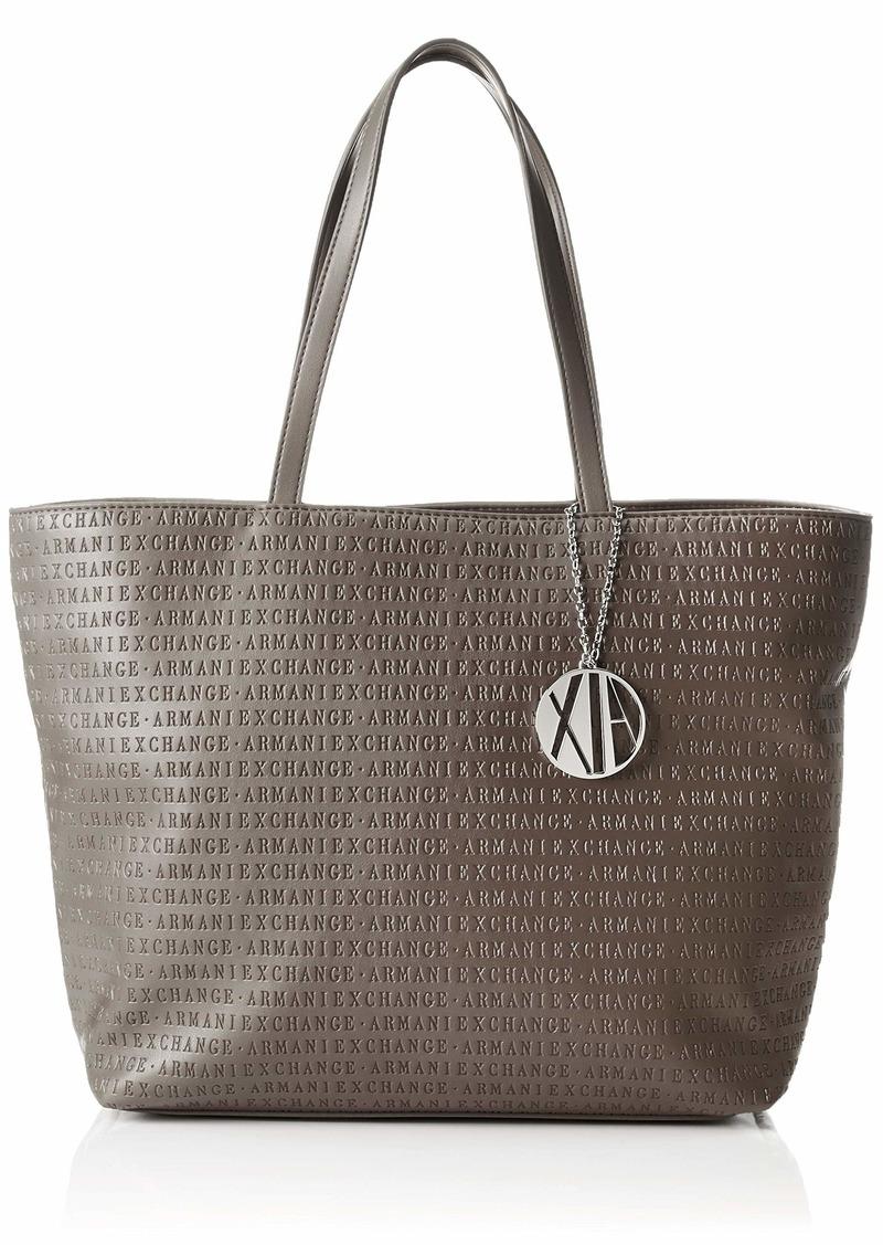 A|X Armani Exchange Zip Top Shoulder Bag Taupe 209