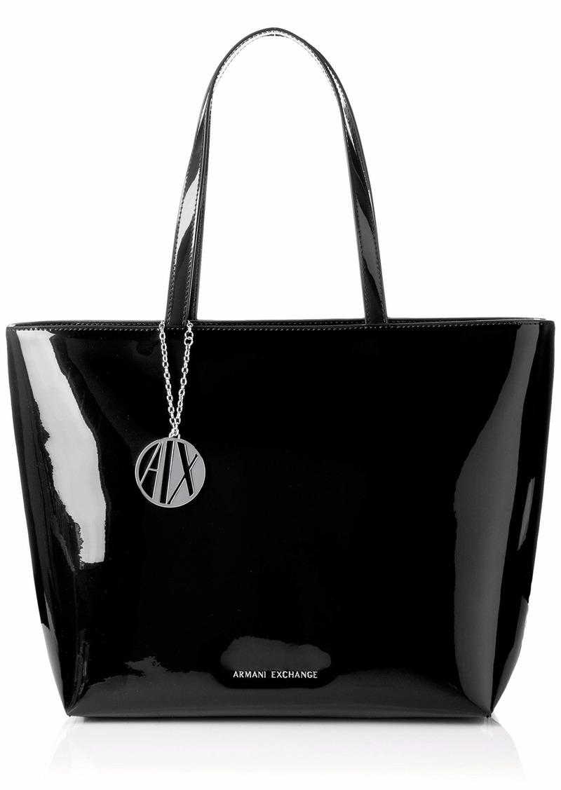A|X Armani Exchange Zip Top Tote Bag black