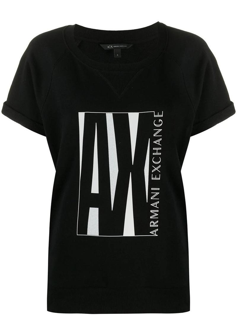 Armani Exchange AX logo-print T-shirt