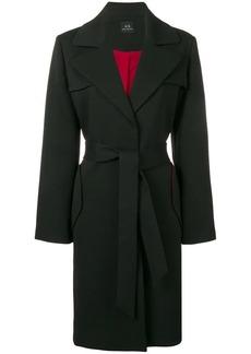 Armani Exchange belted coat