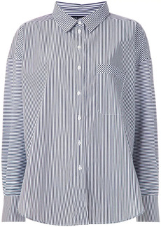 Armani Exchange stripe-print buttoned shirt