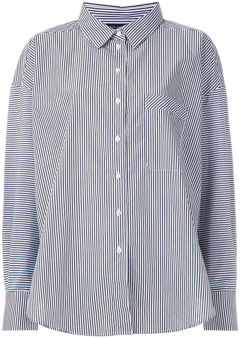 Armani Exchange stripe-print buttoned shirt