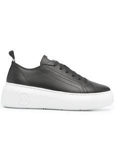 Armani Exchange chunky lace-up trainers