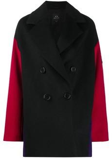 Armani Exchange colour-block coat