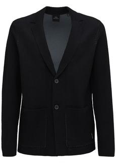 Armani Exchange Cotton Knit Blazer