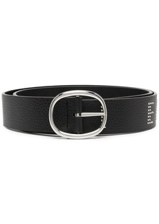 Armani Exchange embellished-logo pointed belt