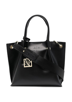 Armani Exchange embossed logo tote bag