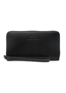 Armani Exchange embossed-logo zip-up purse
