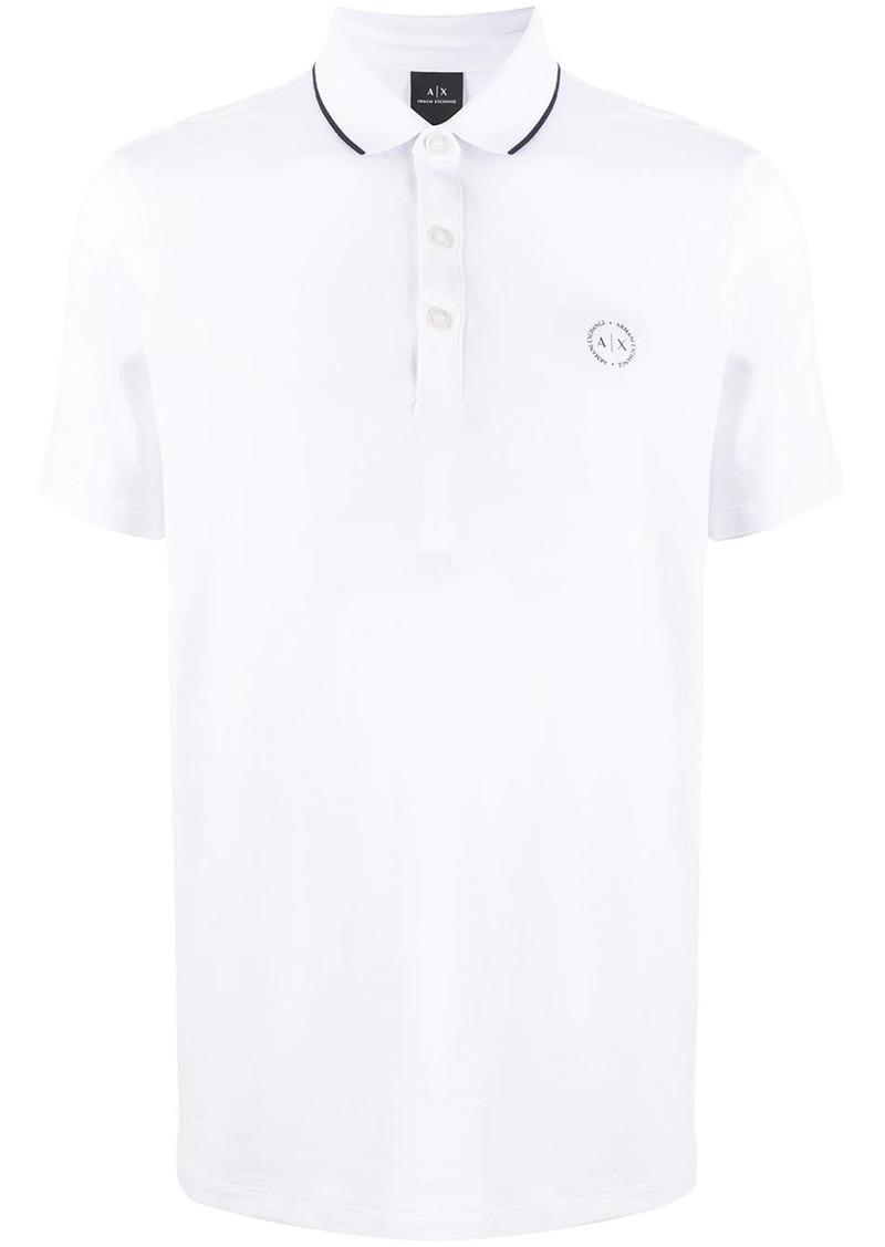 Armani Exchange embroidered logo polo shirt