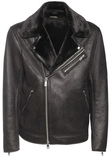 Armani Exchange Faux Shearling Aviator Jacket