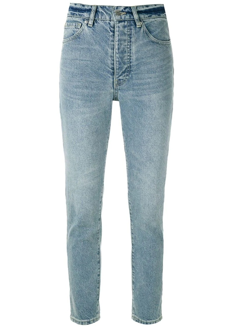 Armani Exchange high-rise cropped jeans