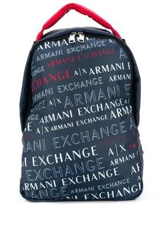 Armani Exchange logo backpack