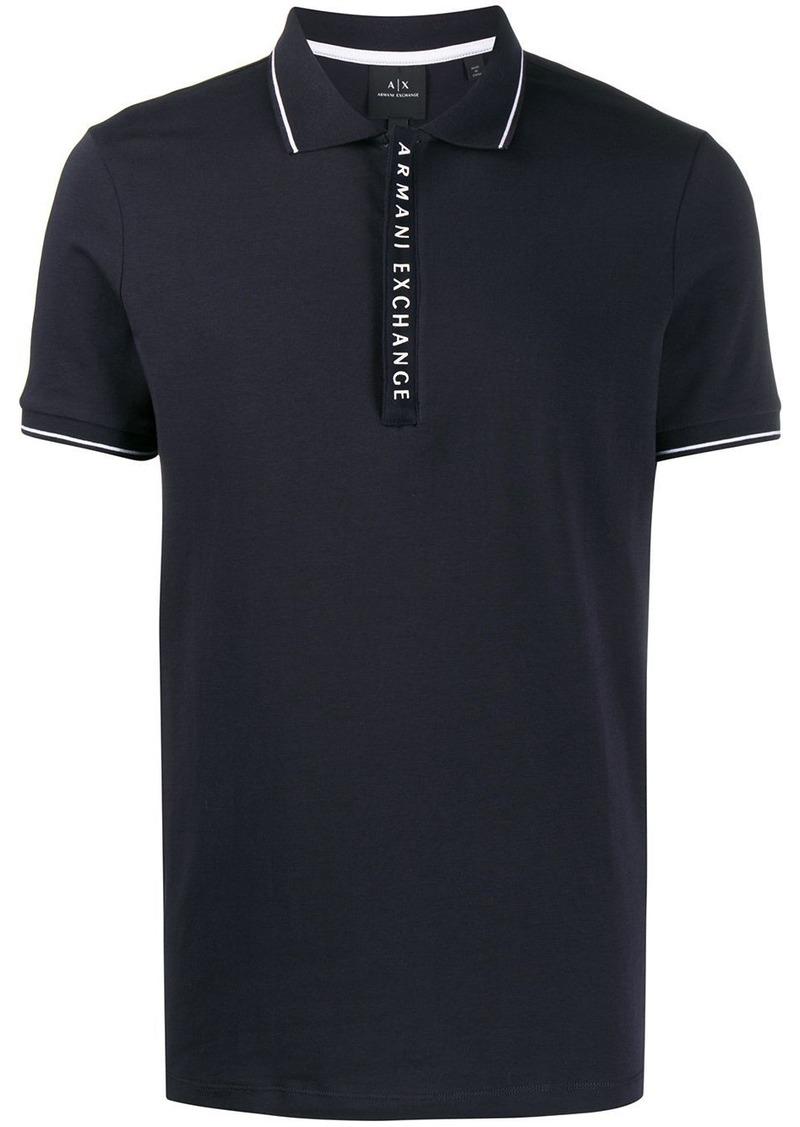 Armani Exchange logo detail polo shirt