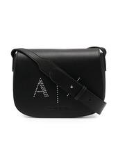 Armani Exchange logo embossed satchel
