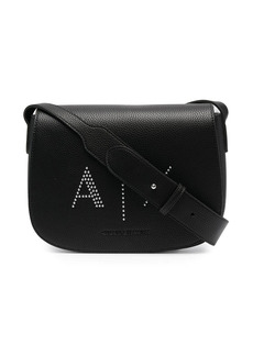 Armani Exchange logo embossed satchel