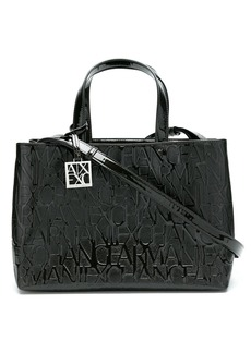Armani Exchange logo embossed tote